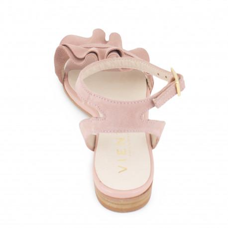 Sandalia Medici Volantes rosa