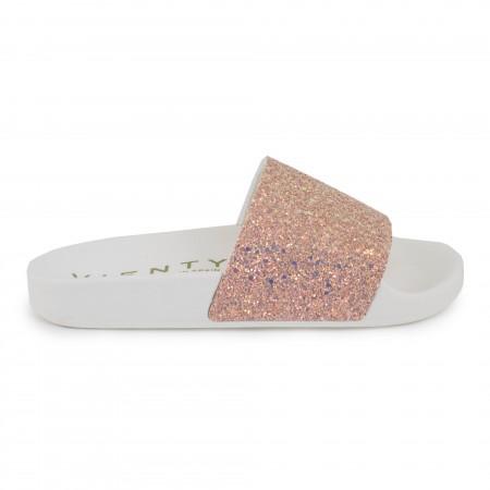 Slip on blanco/rosa