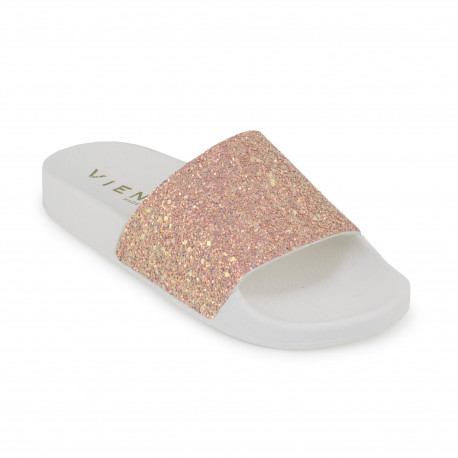 Slip on blanco/rosa