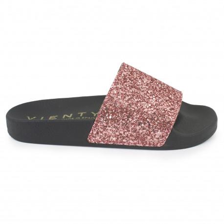 Slip on negro/rosa