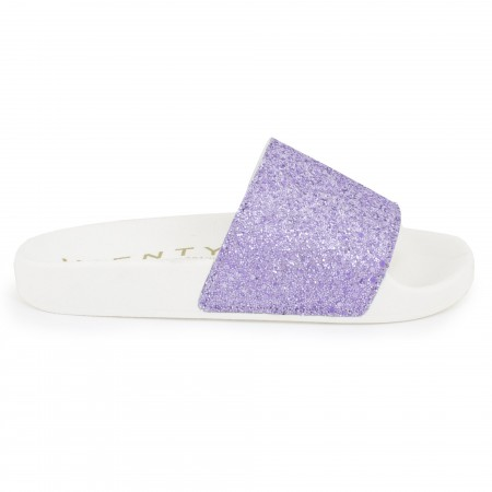 Slip on blanco/violeta