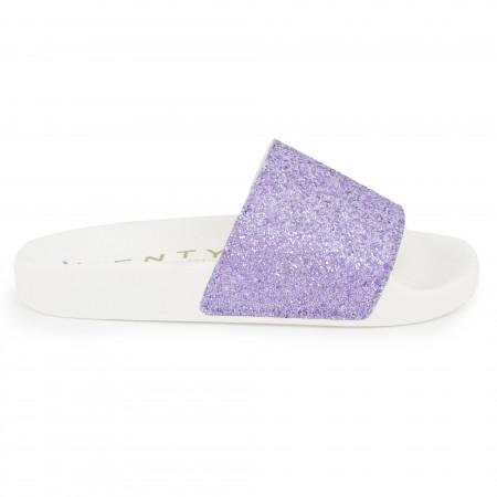 Slip on blanco/violeta
