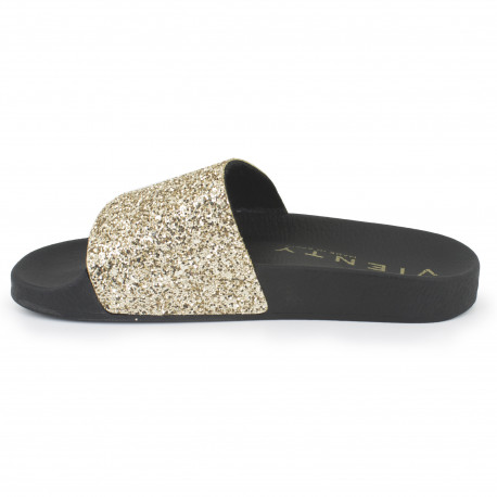 Slip on negro/dorado