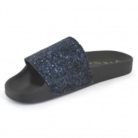 Slip on negro/marino