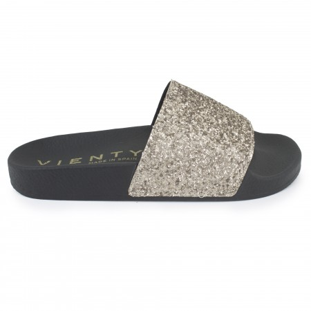 Slip on negro/oro
