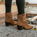 Split leather ankle boots Given