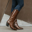 Brown coco boots Given
