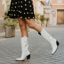 White coco boots Given