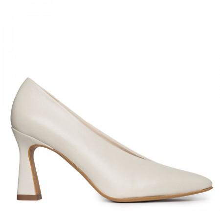 Zapato salón piel beige Sin