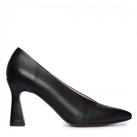 Zapato tacón piel negro SIN