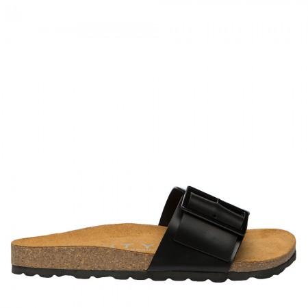 Sandalia plana Bio piel negro