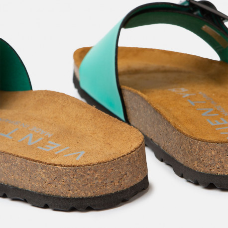 Sandalia plana Bio Nox Verde 709