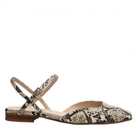 Zapatos destalonados serpiente beige JENNY