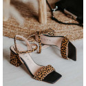 heel sandals with pony effect ANI