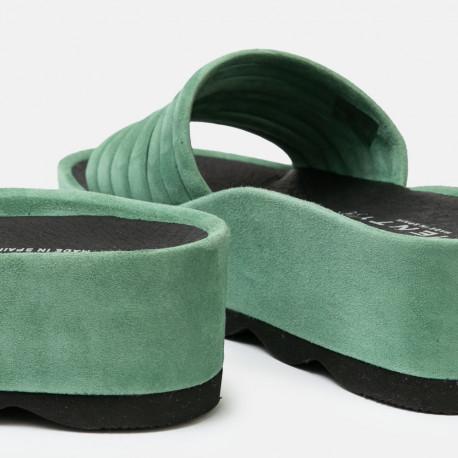 Sandalia plataforma Rubi ante clorofila