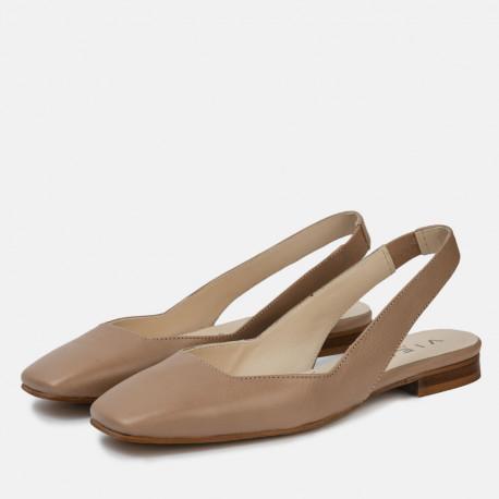 Zapato plano destalonado Jenny beige