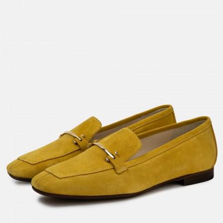 Mocasín Jenny Savana Suede amarillo