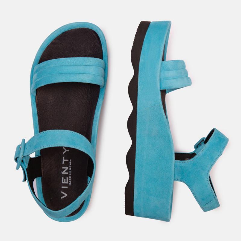 Sandalia plataforma ante Azul RUBI