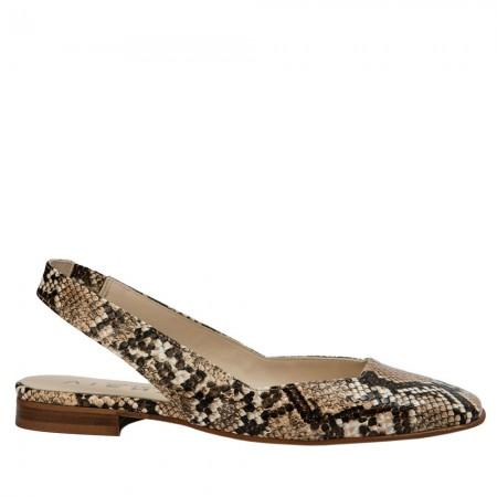 zapato plano destalonado Jenny serpiente
