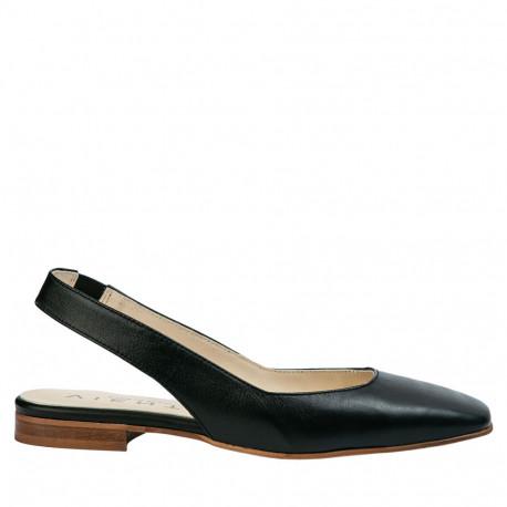 Zapato plano destalonado Jenny negro