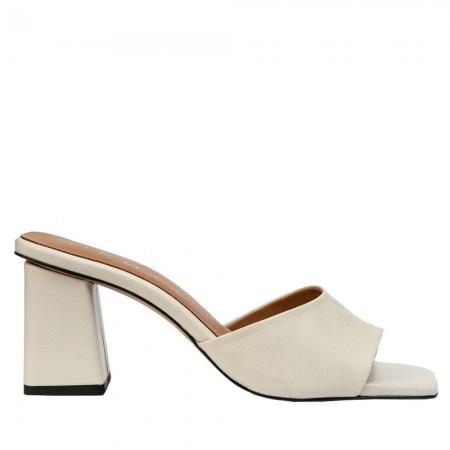 Heel mule sandals in dark beige ANI