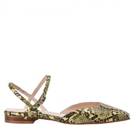 Zapato plano Jenny serpiente lima