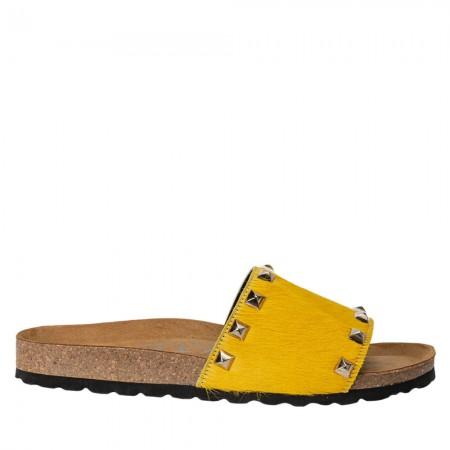 Sandalia plana bio pon amarillo