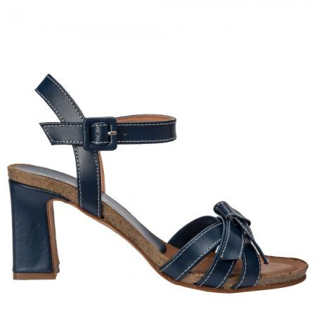 Sandalia tacón piel Marino SANTORINI