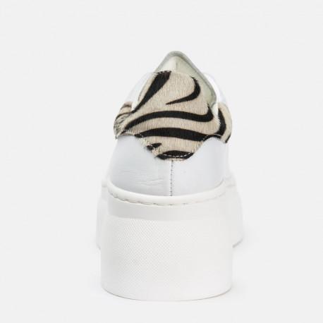 Deportivo Piel Blanco Zebra Yoana