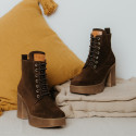 Brown suede ankle boots Iron