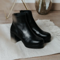 Black leather ankle boots FITA