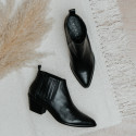 Black leather ankle boots BALBOA