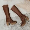 29/5000 High elastic nappa leather boot Iron