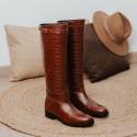 Brown coco boots MORGAN