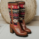 Ethnic leather boot RIVER