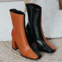 Black and brown leather ankle boots PILOT