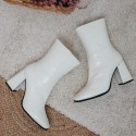 Ice patent leather ankle boots Allison