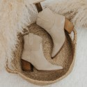 Suede beige ankle boots Given