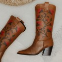 Caramel leather boot GIVEN