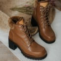 Brown leather ankle boots Moon