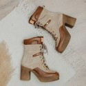 Suede beige ankle boots Iron