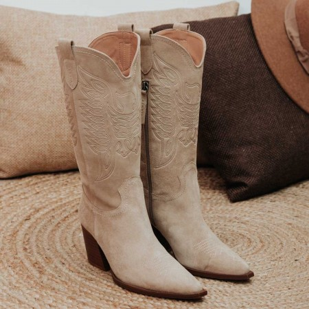 Bota Given suede beig