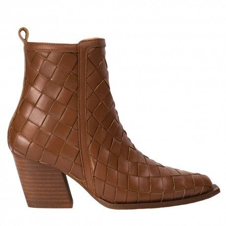 Leather braided ankle boot Given