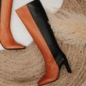 Bota piel cuero negro PISAX