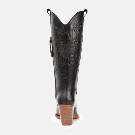 NEW IN - Bota cowboy negro marron GIVEN