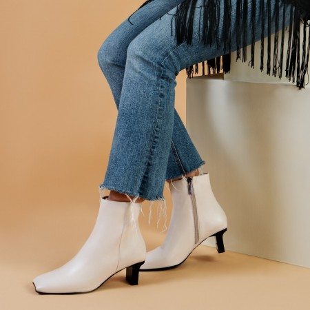 Beige ankle boots MARILOU