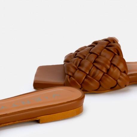 Sandalia trenza cuero BELLA