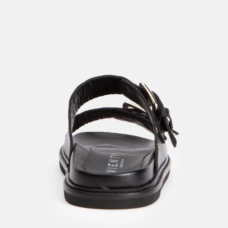 Sandalia pala remaches piel negro MINION