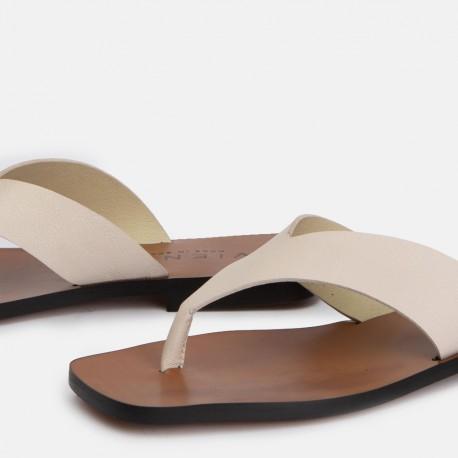 Sandalia esclava piel beige ZOCO
