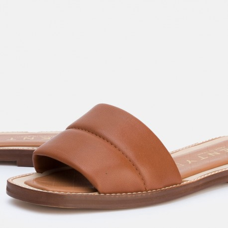 Sandalia pala acolchada cuero JADE